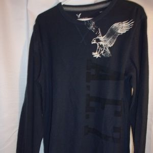 American Eagle Outfitters Sz Large Navy Shirt